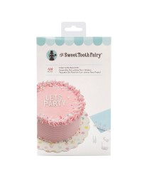 Cake letterboard kit with scraper comb WHITE make your own phrases