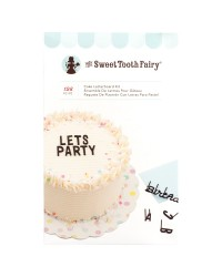 Cake letterboard kit with scraper comb Black make your own phrases