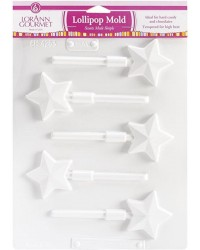 Stars lollipop hard candy or isomalt mould
