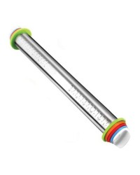 STAINLESS STEEL ADJUSTABLE ROLLING PIN with height guides