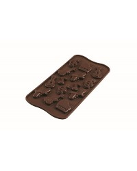 Melody musical notes and instrumentssilicone chocolate mould