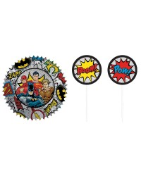 Justice league cupcake paper and pick set