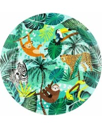 Wild jungle party plates Pack of 8