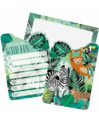 Wild jungle party invites Pack of 8