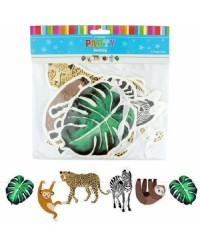 Wild jungle party bunting banner