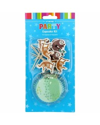 Wild jungle cupcake papers and picks set