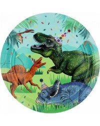 Dinosaur fun party plates pack of 8