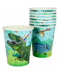 Dinosaur fun party cups pack of 8