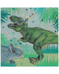 Dinosaur fun party napkins pack of 20