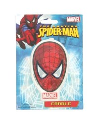 The amazing SPIDERMAN FACE FLAT CANDLE
