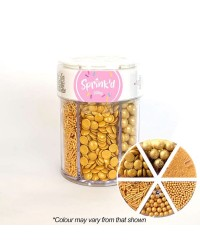 Gold sprinkle collection 6 cell container