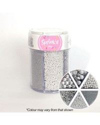 Silver sprinkle collection 6 cell container