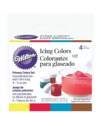 Set 4 primary gel icing colours by Wilton