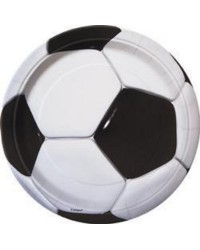 Soccer party lunch plates pack of 8