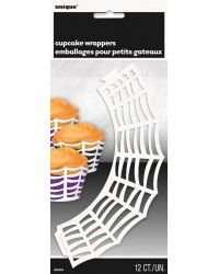 Spider web cupcake wrappers