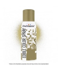 Chefmaster edible colour spray for icing Gold Restricted delivery area