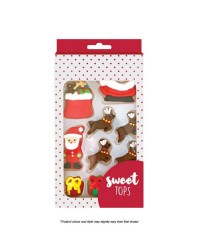 Christmas Santa Sleigh And Reindeer icing decorations by Sweet Tops
