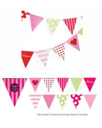 Were 12.95 now $5 pink bunting party flags
