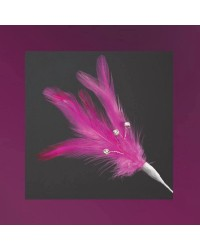 Hot Pink feathers (6)