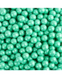 10mm Pearl Turquoise sixlets (cachous or sugar pearls) 100g