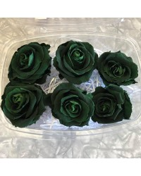 Large PRESERVED FLOWERS CLASSIC ROSE Dark Green