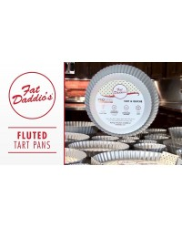 Fluted tart or quiche pan 9 .5 x 1 inch deep Fat Daddios