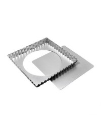 Fluted tart or quiche pan Square 9 x 1 inch Fat Daddios