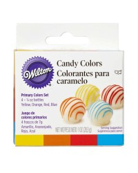 Candy chocolate oil colouring Primary set 4 colours