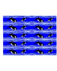 Edible icing image CAKE STRIPS ribbons Orca Whales