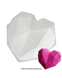 3d Large Geo heart silicone mould cake pan