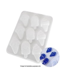 ICE CREAM CONE and POPSICLE shapes SILICONE MOULD
