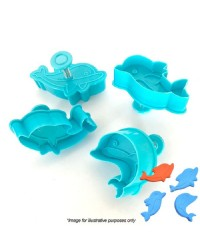 Dolphin set of 4 plunger cutters