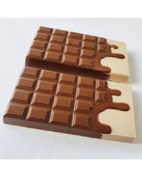 Melted chocolate bar chocolate mould