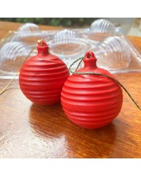 Christmas bauble 3d striped chocolate mould