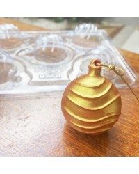 Christmas bauble 3d wave chocolate mould