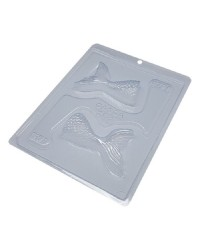 Mermaid tail large chocolate mould