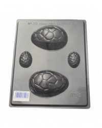 image: Easter eggs 2 sizes crackled chocolate mould