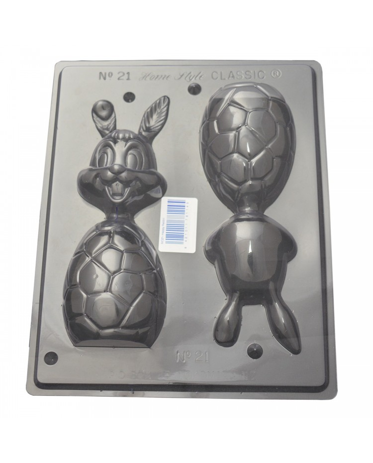 image: Easter happy bunny egg chocolate mould
