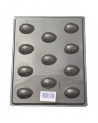 image: Easter eggs small crackled chocolate mould
