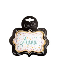 Coo Kie NAME PLAQUE Cookie Cutter