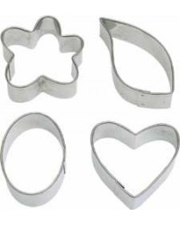image: Fancy Shape Cut-Outs mini cutter set leaf flower heart oval