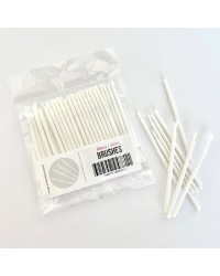 50 PACK PAINTBRUSHES FOR PAINT YOUR OWN KITS white