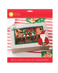 Christmas Santa Bakery or cookie treat boxes pack of 2