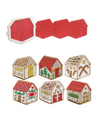 Gingerbread man house cutter with 7 possible designs