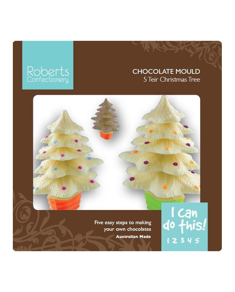 image: 3d stacking Christmas tree chocolate mould