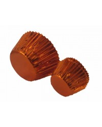 image: Foil baking cups orange 50mm x 35mm (25) cupcake papers