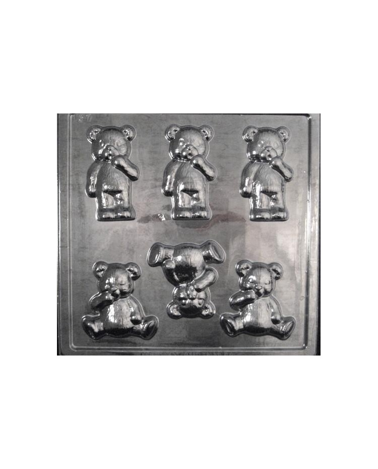 image: Teddy bears large chocolate mould