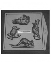 image: Australian animals chocolate mould Kangaroo Koala Lizard & Kooka