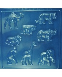 image: Zoo or jungle animals chocolate mould