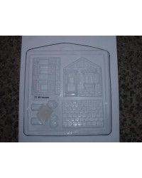 image: 3d House chocolate mould